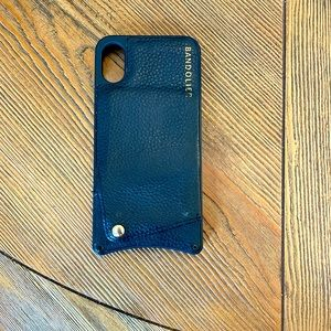 Black bandolier case for iPhone X/XS